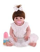 Недорогие -Куклы реборн Принцесса Дети Новорожденный как живой Милый стиль Полный силикон для тела Все Подарок