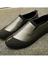 Недорогие -Муж. обувь Полиуретан Весна Осень Удобная обувь Мокасины и Свитер для Повседневные Черный Темно-серый