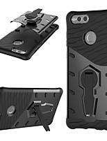 Недорогие -Кейс для Назначение Huawei Honor 7X Защита от удара / со стендом / Поворот на 360° Кейс на заднюю панель броня Твердый ПК для Honor 7X