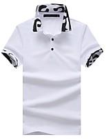 cheap -Men's Active Chinoiserie Cotton Polo - Camouflage, Basic Shirt Collar