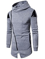 cheap -Men's Slim Hoodie - Color Block