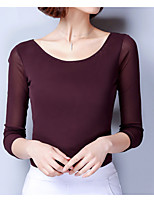 cheap -Women's Basic T-shirt - Solid Colored, Modern Style