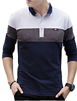 cheap -Men's Business Polo - Stripe Shirt Collar