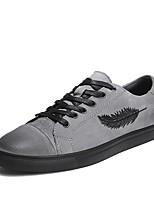 abordables -Homme Chaussures Daim Printemps Eté Confort Basket pour Décontracté Bureau et carrière Noir Gris