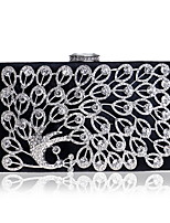cheap -Women's Bags PU Polyester Evening Bag Crystal Detailing for Wedding Event/Party All Seasons Gold Black Silver