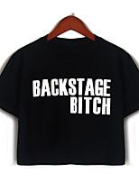 abordables -Mujer Bonito Básico - Camiseta Letra