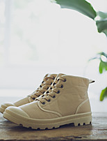 cheap -Men's Shoes Fabric Winter Fall Comfort Sneakers for Casual Yellow Khaki