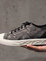 cheap -Men's Shoes PU Summer Comfort Sneakers for Casual Black Gray