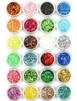 abordables -1pcs Poudre de paillettes Paillettes Etincelant Conseils d'art des ongles