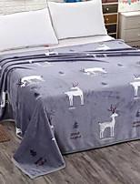 cheap -Coral fleece, Reactive Print Cartoon Polyester/Polyamide Blankets