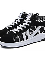cheap -Women's Shoes PU Spring Fall Comfort Sneakers Flat Heel for Casual Black/White Black/Red Orange/Black