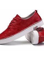 preiswerte -Herrn Schuhe Künstliche Mikrofaser Polyurethan Frühling Herbst Leuchtende Sohlen Sneakers für Normal Weiß Schwarz Rot Khaki