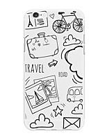Недорогие -Кейс для Назначение Apple iPhone X / iPhone 8 Plus С узором Кейс на заднюю панель Мультипликация Мягкий ТПУ для iPhone 8 Pluss / iPhone 7 Plus