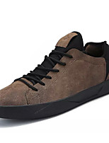 cheap -Men's Shoes Nubuck leather Spring Fall Comfort Sneakers for Casual Black Gray Brown