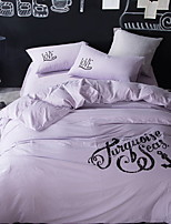 cheap -Duvet Cover Sets Slogan 4 Piece Poly/Cotton Reactive Print Poly/Cotton 1pc Duvet Cover 2pcs Shams 1pc Flat Sheet