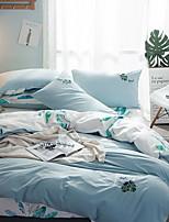 cheap -Duvet Cover Sets Floral 3 Piece Poly/Cotton 100% Cotton Jacquard Poly/Cotton 100% Cotton 1pc Duvet Cover 1pc Sham 1pc Flat Sheet