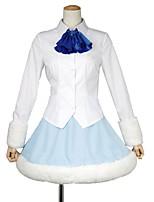 baratos -Inspirado por Himouto Fantasias Anime Fantasias de Cosplay Ternos de Cosplay Outro Manga Longa Peitilho Blusa Saia Fita de Cabelo Para
