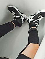 baratos -Homens sapatos Couro Ecológico Inverno Outono Conforto Tênis para Casual Branco Preto