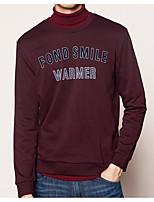 cheap -Men's Sweatshirt - Letter, Print Round Neck