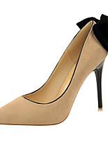 baratos -Mulheres Sapatos Pêlo Primavera Outono Plataforma Básica Gladiador Saltos Salto Agulha Dedo Apontado Laço para Festas & Noite Preto