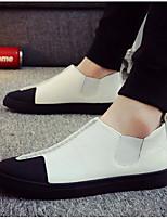 Недорогие -Муж. обувь Дерматин Весна Осень Удобная обувь Мокасины и Свитер для Повседневные Золотой Белый Черный