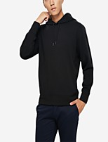 cheap -Men's Simple Long Sleeves Hoodie - Solid Colored Hooded