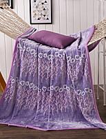 baratos -Velocino de Coral, Impressão Reactiva Floral Algodão / Poliéster Poliéster cobertores