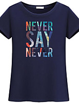 cheap -Women's Rayon T-shirt - Letter