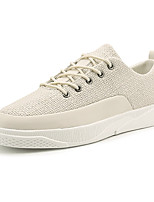 cheap -Men's Shoes PU Fabric Winter Fall Comfort Sneakers for Casual White Black Beige