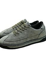 Недорогие -Муж. обувь Полиуретан Зима Осень Удобная обувь Кеды для Повседневные Черный Серый