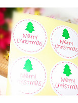 cheap -Holiday Stickers, Labels & Tags - 6 Christmas Circular Stickers All Seasons