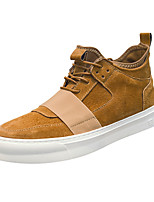 cheap -Men's Shoes Pigskin Spring Fall Comfort Sneakers for Casual Outdoor Black Gray Green Khaki