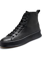 Недорогие -Муж. обувь Полиуретан Зима Осень Удобная обувь Кеды для Повседневные Белый Черный Красный