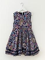 cheap -Girl's Floral Dress Summer Simple Rainbow