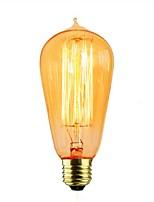 abordables -1pc 40W E26/E27 ST58 Jaune chaud 2000 K Décorative Ampoule incandescente Edison Vintage 110-120V 220-240V