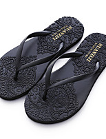 cheap -Women's Shoes Synthetic Summer Comfort Slippers & Flip-Flops Flat Heel for Casual Outdoor Black Gray Yellow