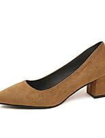abordables -Femme Chaussures Polyuréthane Printemps Automne Confort Chaussures à Talons Talon Bottier pour De plein air Noir Beige Marron