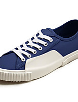 cheap -Men's Shoes Canvas Spring Fall Comfort Sneakers for Casual White Dark Blue Light Yellow