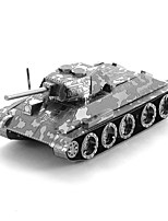 cheap -3D Puzzles Metal Puzzles Creative Focus Toy Hand-made Metal Military Standing Style Toy Tank Girls' Boys' Gift