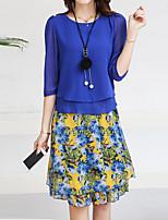 cheap -Women's Blouse - Floral, Print Skirt