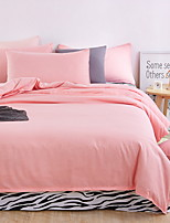 cheap -Duvet Cover Sets Solid 3 Piece Poly/Cotton 100% Cotton Reactive Print Poly/Cotton 100% Cotton 1pc Duvet Cover 1pc Sham 1pc Flat Sheet