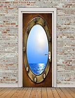 Недорогие -3D Наклейки Простые наклейки 3D наклейки Декоративные наклейки на стены Фото наклейки Напольные наклейки Дверные наклейки, Винил