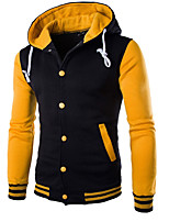 cheap -Men's Street chic Hoodie Hoodie Jacket - Color Block