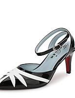 abordables -Femme Chaussures PU de microfibre synthétique Printemps Eté Confort Chaussures à Talons Talon Aiguille Bout pointu pour Bureau et
