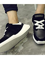cheap -Men's Shoes PU Spring Fall Comfort Sneakers for Casual Black