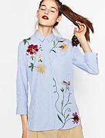 Недорогие -Жен. Рубашка, Рубашечный воротник Шинуазери (китайский стиль)