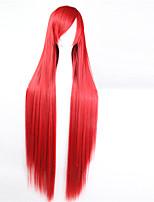 abordables -Perruque Synthétique Avec Frange Gris Violet Marron Vert Rose Blanc Blond Bleu Noir Rouge Femme Sans bonnet Perruque de fête Perruque