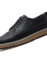 cheap -Men's Shoes Nappa Leather Spring Fall Comfort Oxfords for Outdoor Black Gray Brown
