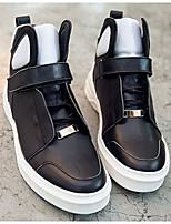 abordables -Homme Chaussures Cuir Nappa Printemps Automne Confort Basket pour Décontracté De plein air Noir