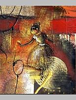 abordables -Peinture à l'huile Hang-peint Peint à la main - Abstrait Personnage Classique Toile